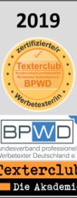 Siegel vom Texterclub.de von Stefan Gottschling für qualitativ hochwertige Texterstellung